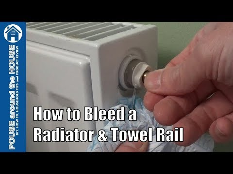 How to bleed a radiator & towel rail.  Bleeding a heating system!
