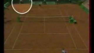 Ballboy fainting during tennis match