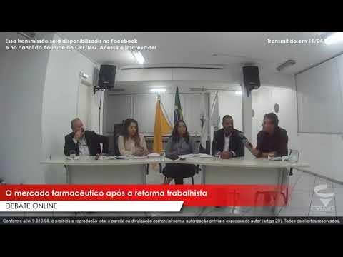 Debate online: mercado farmacêutico após a reforma trabalhista