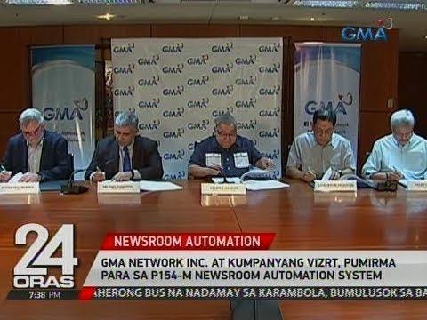 24 Oras: GMA Network Inc. at kumpanyang Vizrt, pumirma para sa P154-M Newsroom Automation System