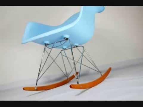 Vitra Sedia A Dondolo Eames Plastic Armchair Rar : Sedia rar rocking chair charles eames youtube
