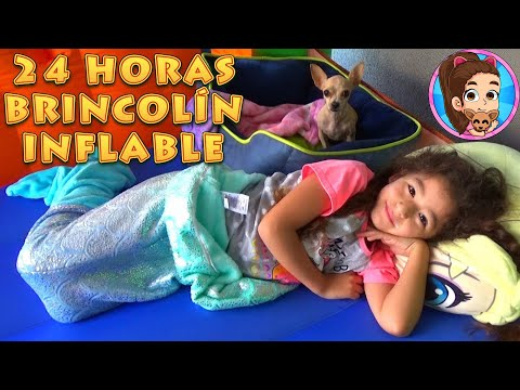 24 HORAS EN BRINCOL�N INFLABLE YESLY Y P�CHU | CASTILLO | RETO | UNBOXING | REVISI�N