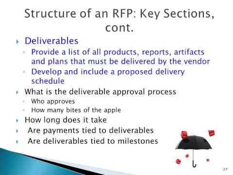 Writing and Evaluating an RFP