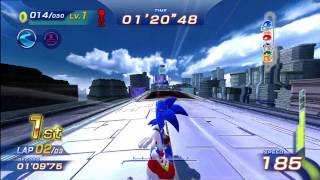 Sonic Free Riders: Metal City (Standard / Free Race) [1080 HD]