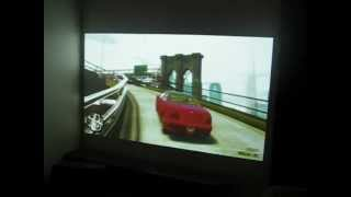 Mitsubishi SD105u projector  ps3 GTA4