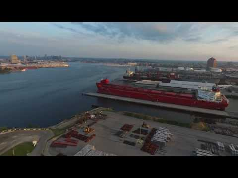 Drone view of Northwest Harbor, Baltimore  MD