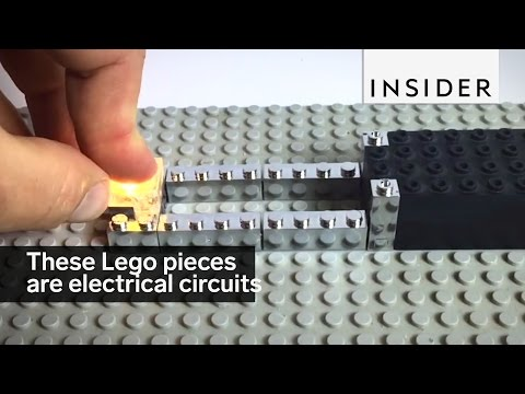 These Lego pieces are electrical circuits