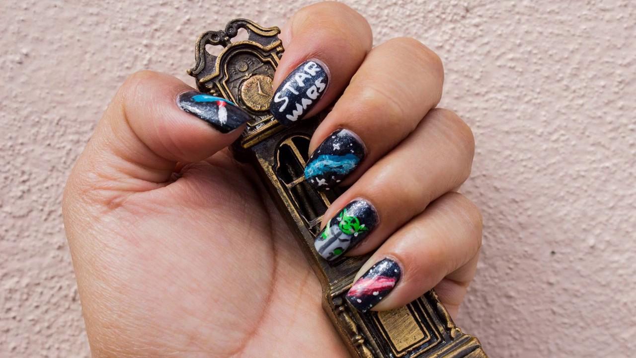 Diseño de uñas Star Wars | Star Wars nail art - YouTube