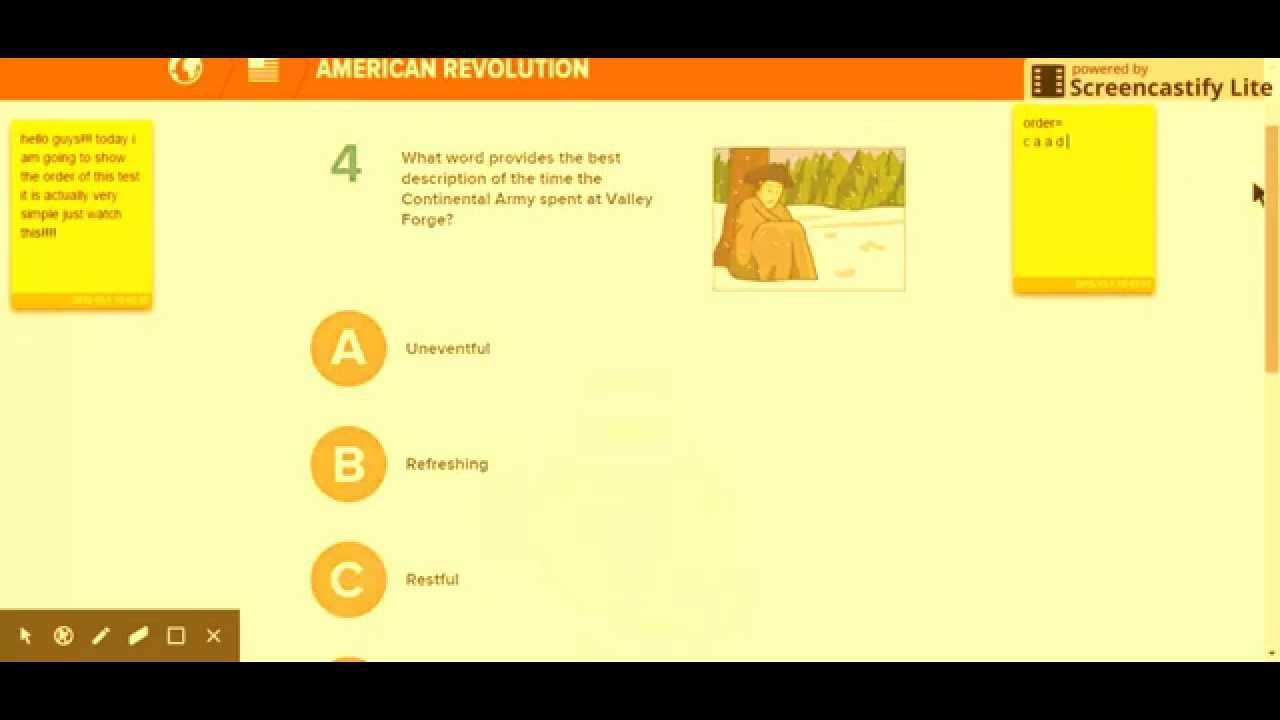 Revolutionary War Brain Pop Quiz Answers Youtube