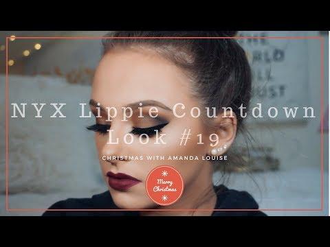 NYX LIPPIE COUNTDOWN ll Day 19 Makeup Look: Copenhagen ll Christmas with Amanda Louise