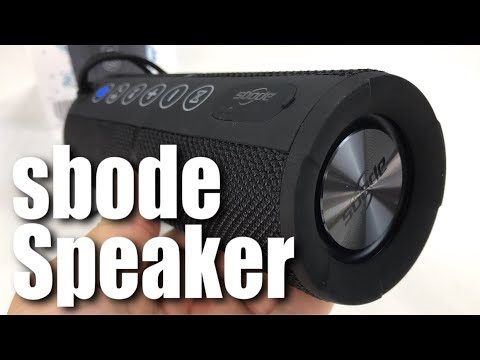 Sbode Portable Waterproof Outdoor Wireless Bluetooth Speaker with Enhanced Bass Review