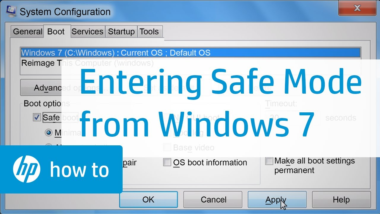 Entering Safe Mode from Windows 7 | HP Computers | HP