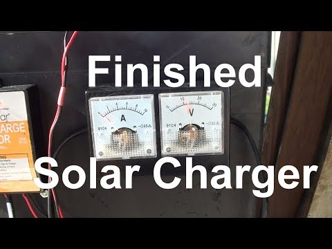 Finished Wiring a Solar panel for a pop up trailer