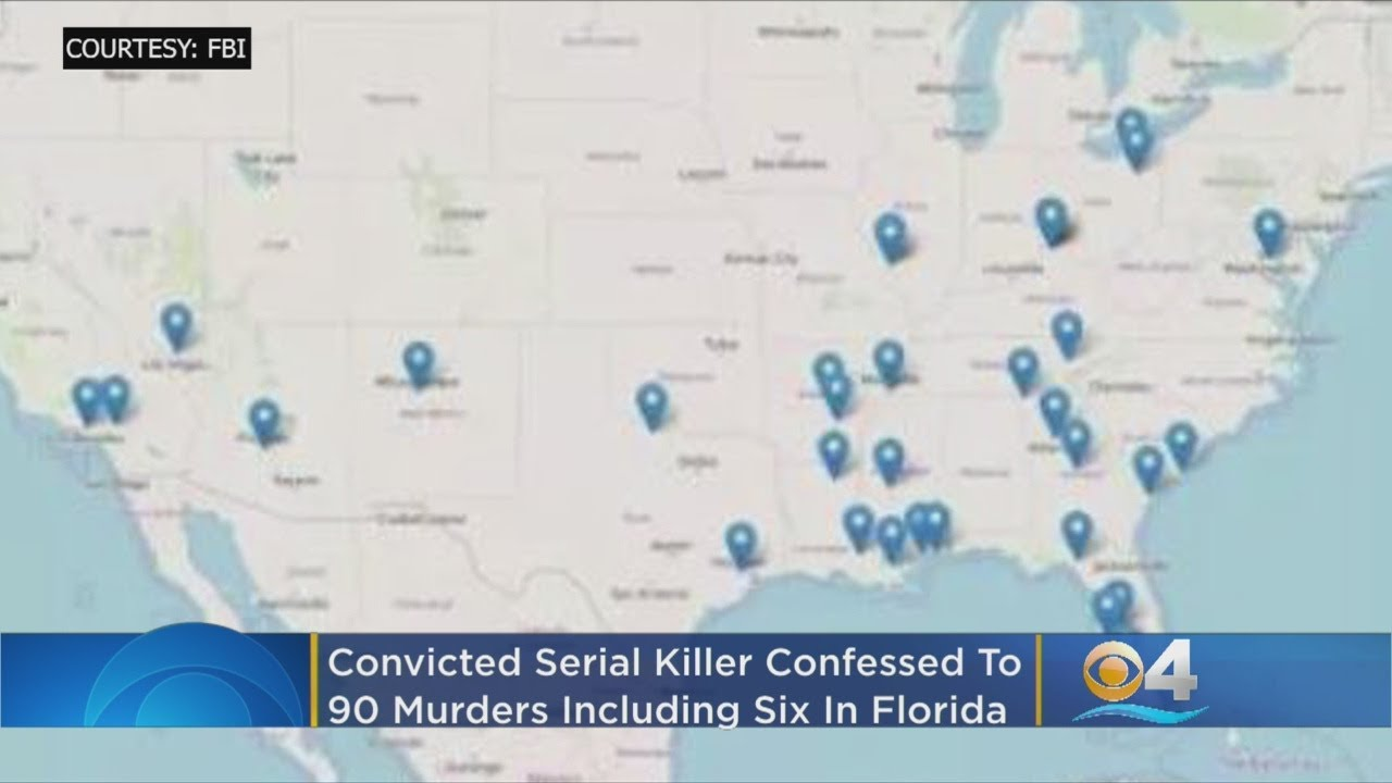 FBI: Convicted Serial Killer Confessed To 90 Murders Including Six In South Florida