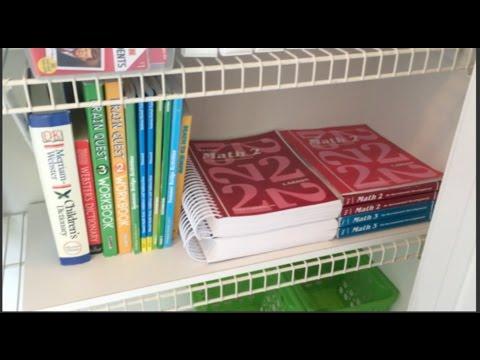 Homeschool Craft Closet Organization