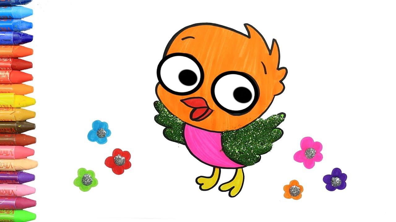 画画教学 | 儿童画画 | 如何画可小雞 | 如何绘画和颜色孩子电视