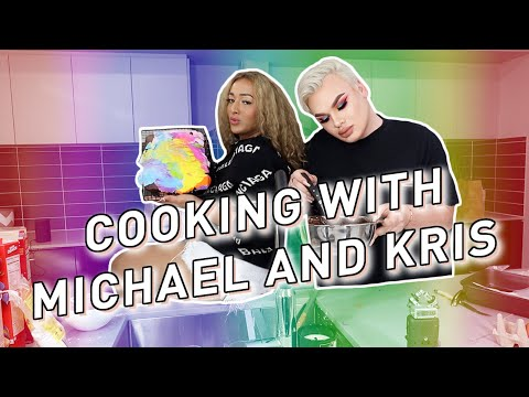 So we TRIED to bake a cake.. ft. Kris Fox! *Hilarious*