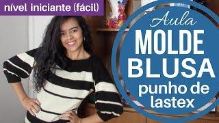 MOLDE Blusa com punhos e gola de lastex Alana Santos Blogger