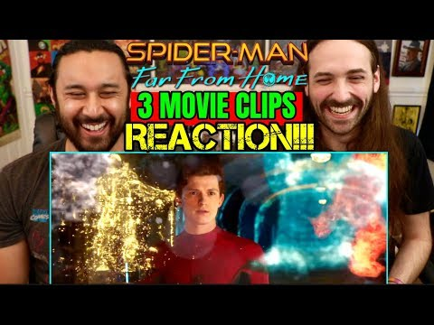 spider-man:-far-from-home-|-3-movie-clips---reaction!!!