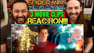 SPIDER MAN: FAR FROM HOME | 3 MOVIE CLIPS - REACTION!!!