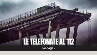 Crollo Genova, gli audio delle telefonate al 112: