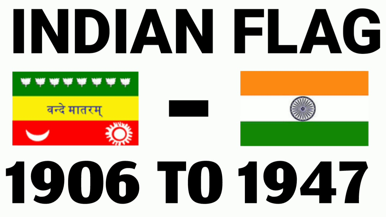 d420ff06cdc Indian Flag From 1906 to 1947 Changed and Now ! Republic Day and  Independence Day Special.