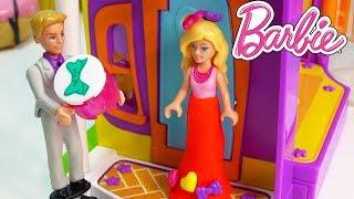 Barbie Ken Valentines Day Dinner Playdoh Dress Dressup Playing Fun Mega Bloks Playset Mini Dolls