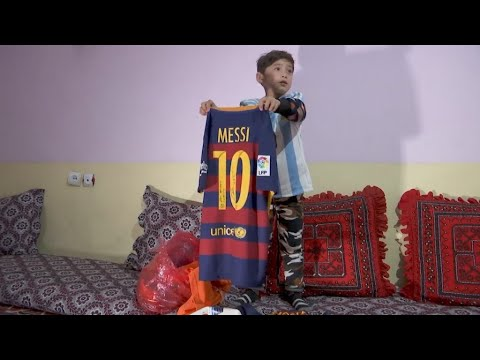 Afghan Messi fan: Boy who shot to fame forced to flee home