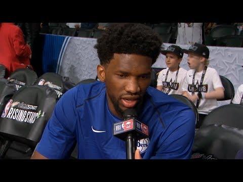 Joel Embiid Pregame Interview / Team World vs Team US / 2018 NBA Rising Stars Game
