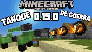 !Super tanque de guerra¡ Minecraft pocket edition 0.15.0 build x tutorial
