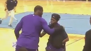 LeBron James Brings Girl To Tears After Giving Her His Shoes! Lakers vs Grizzlies