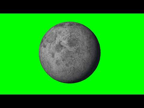 Moon in rotation - green screen thumbnail