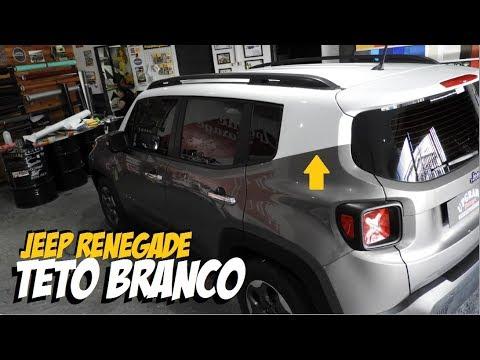 2018 Jeep Renegade >> Envelopamento Jeep Renegade teto branco brilhante. COMBINOU DEMAIS. - YouTube