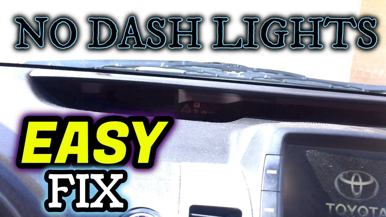 How To Toyota Prius Dashboard Lights Won T Turn On Easy