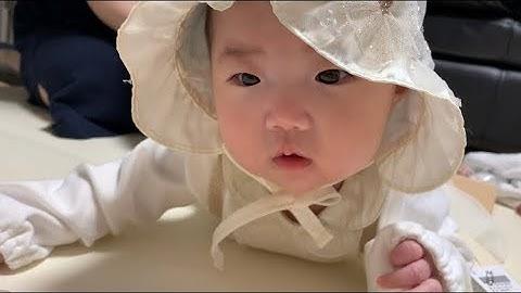 (D 125) 언박싱하는 채아 밍크뮤 원피스2