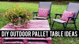 DIY Outdoor Pallet Table Ideas
