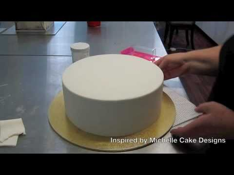 how to get sharp edges on fondant covered cakes