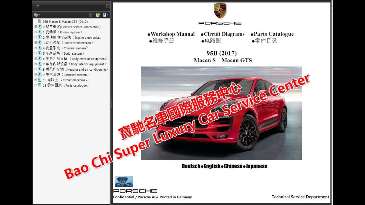 Porsche Macan Wiring Diagram Worksheet And 356a Macans 95b Workshop Repair Manual Rh Youtube Com Diagrams For 86 Schematics
