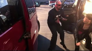 Martial arts mom with baby VS. two kidnappers in Walmart parking lot...