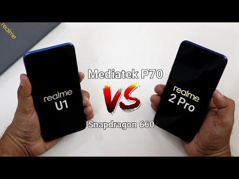 Realme U1 Vs Realme 2 pro SpeedTest Comparison I Mediatek P70 Vs Snapdrago 660