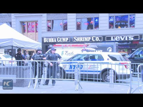 New York police reinforce public protection after terrorist attacks in England