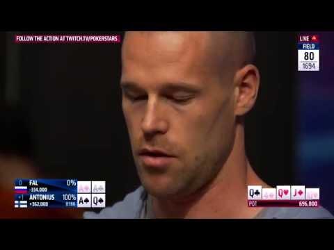 Patrik Antonius Cracks Aces at EPT 12 Barcelona 2015   PokerStars