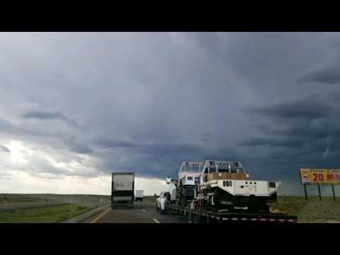 Driving into Albuquerque