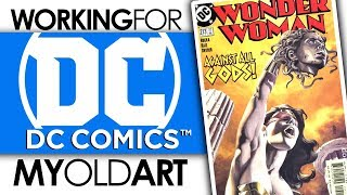 WORKING FOR DC COMICS! | MY OLD ART! | DRAWING WONDERWOMAN #213
