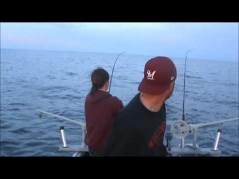 Firedrill salmon fishing on lake michigan in kewaunee for Kewaunee fishing report
