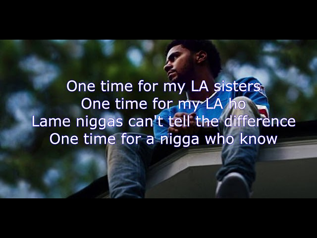 J Cole - No Role Models (2014 Forest Hills Drive)  LYRIC VIDEO