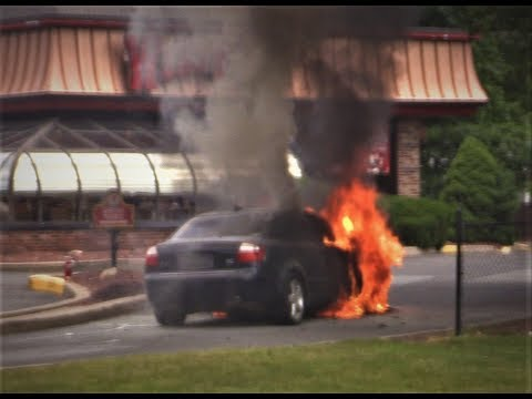 Wayne NJ Fire Department operates at a Car Fire at the Wendy's 530 Route 46 East June 15th 2017