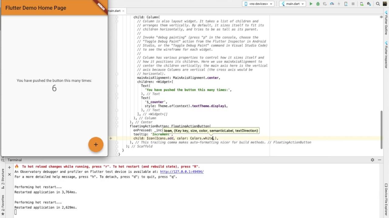 Flutter desktop on Android Studio