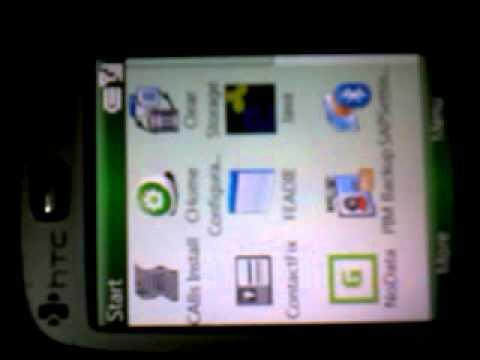 HTC s710 menu