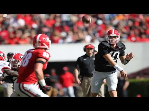 Jacob Eason G-Day game completions (Georgia Spring Game)